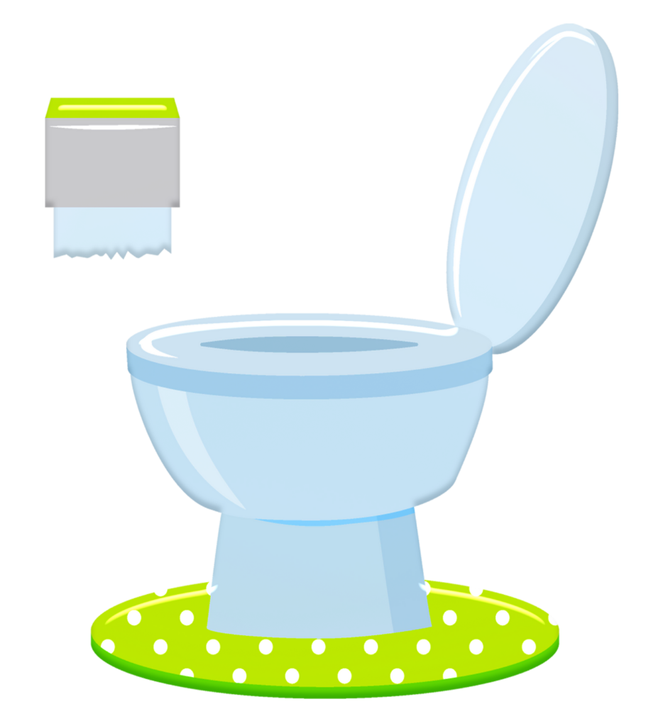 A graphic of a toilet with a roll of toilet paper hanging nearby.
