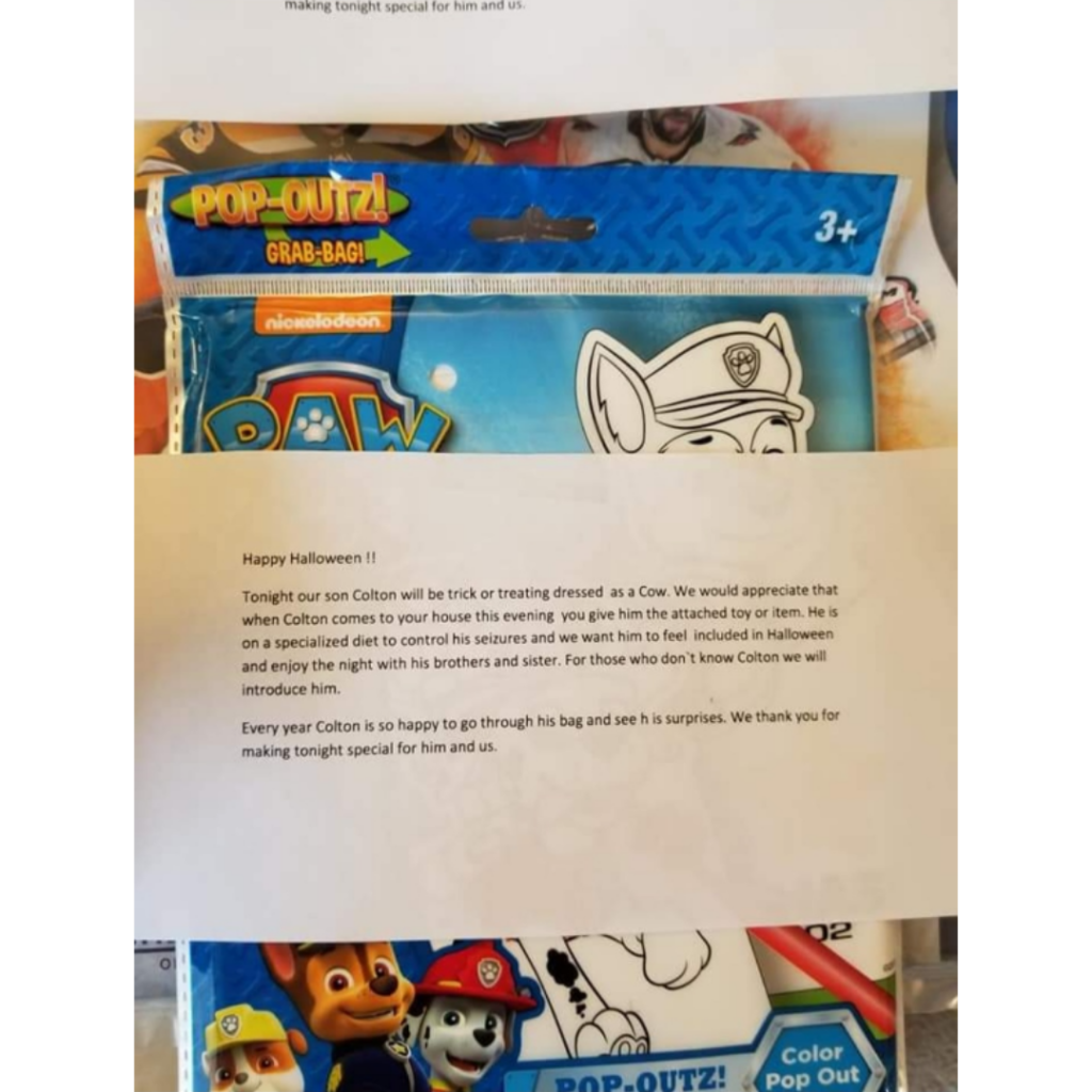 Image of the letter Jackie wrote her neighbours.