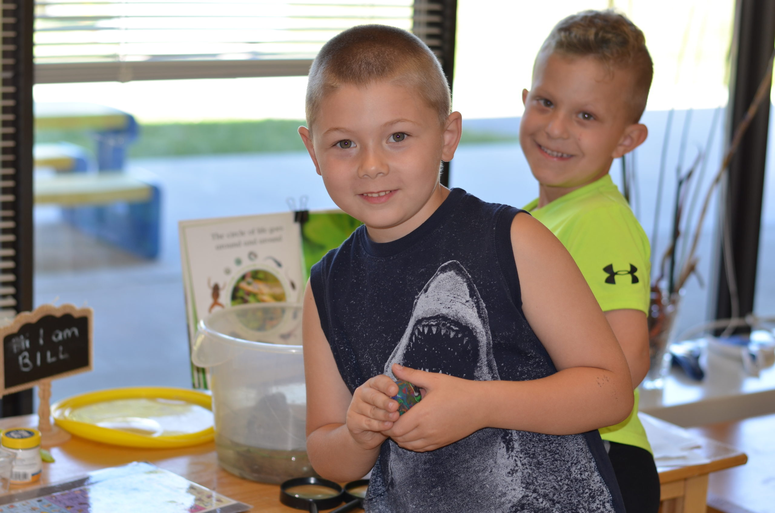 Boys having fun at summer camp