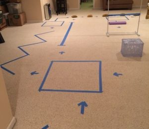 Tape maze at home