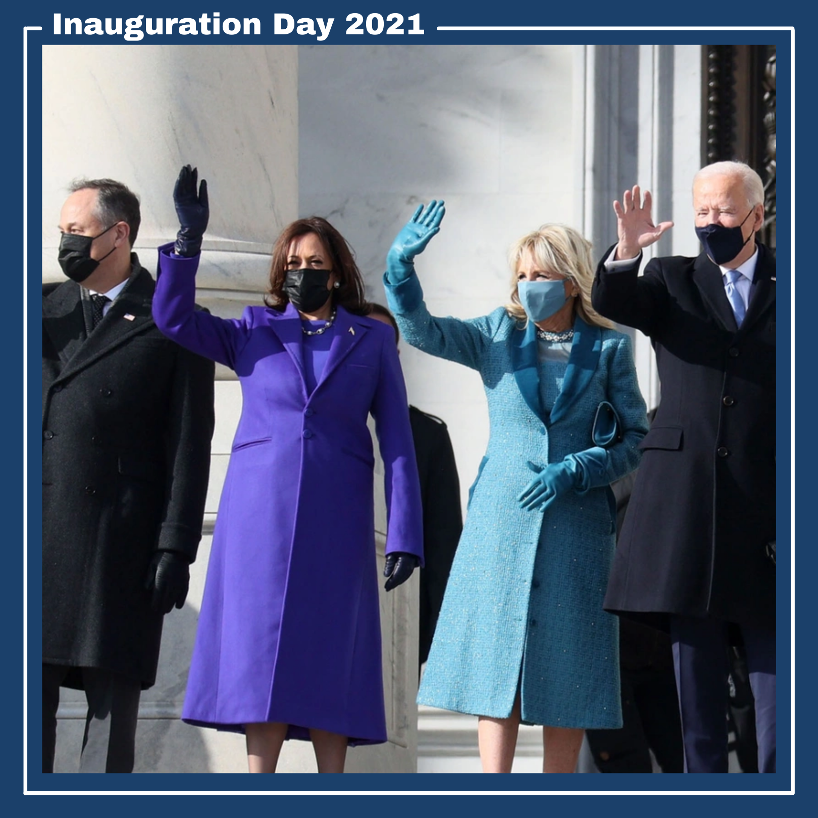 Inauguration Day 2021 showing President Joe Biden and Vice President Kamala Harris