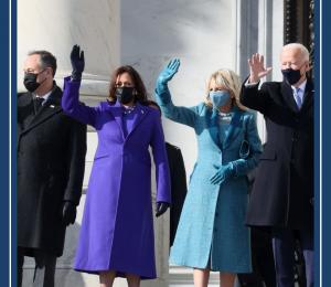 Inauguration Day 2021 showing President Joe Biden and Vice President Kamala Harris