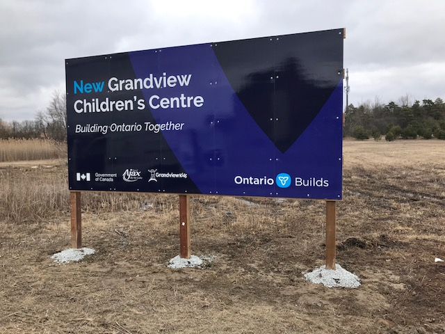 The site for the new Grandview Children's Centre in Ajax, Ontario